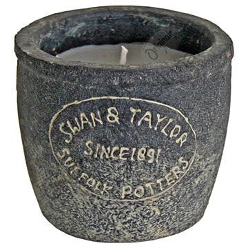 Swan & Taylor candle pot Ebony - Doris and Jeannie