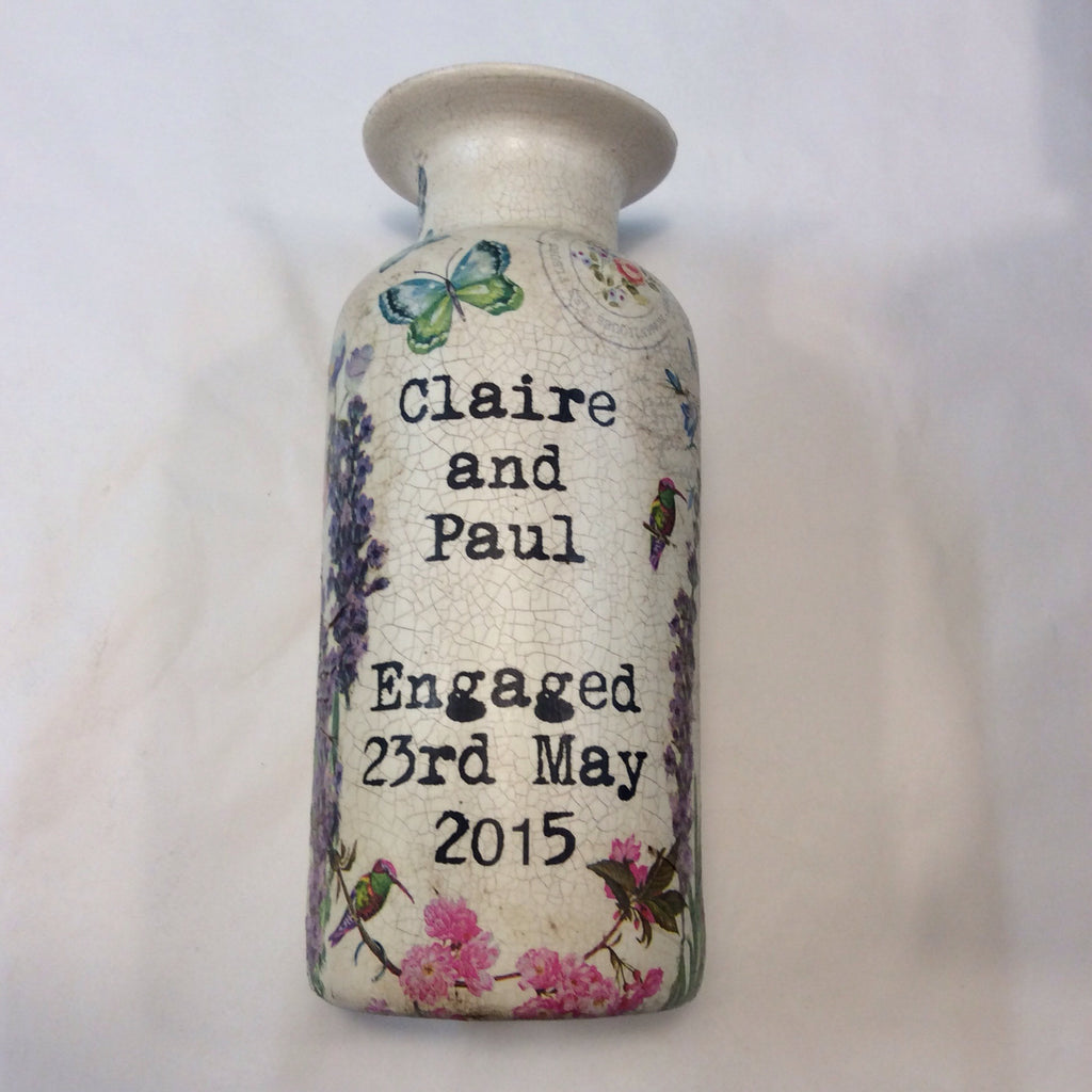 Personalised Handmade Vase - Doris and Jeannie - 1