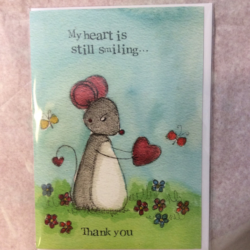 Greeting card- my heart is still smiling - Doris and Jeannie