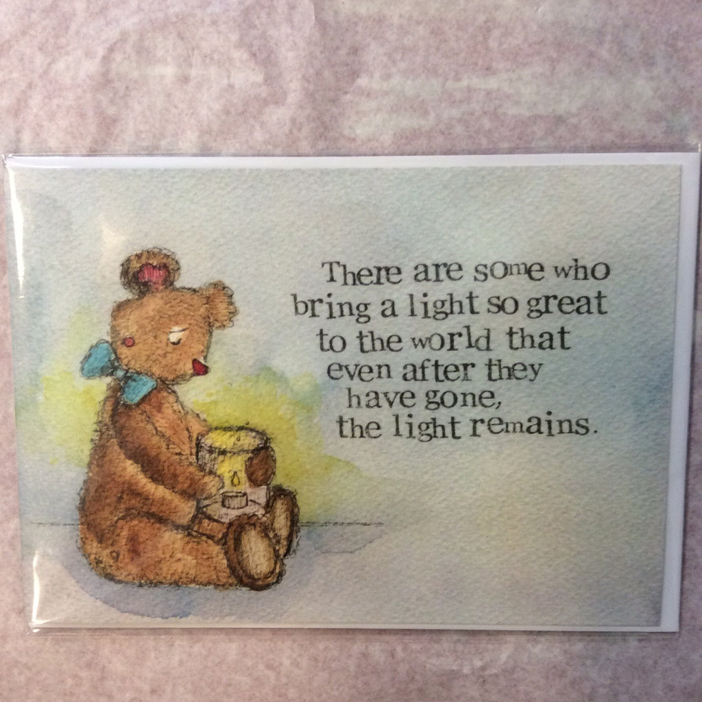 Greeting card- there are some who bring a light - Doris and Jeannie