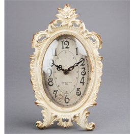 Boudoir old Romance Oval Clock - Doris and Jeannie - 2