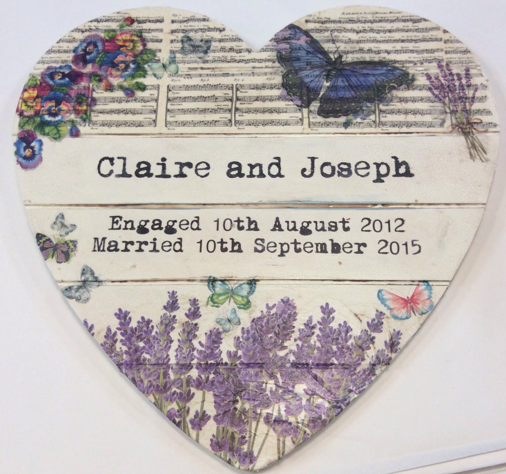 Large Personalised  Handmade Hanging Heart £50 - Doris and Jeannie