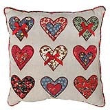 Patchwork hearts cushion - Doris and Jeannie
