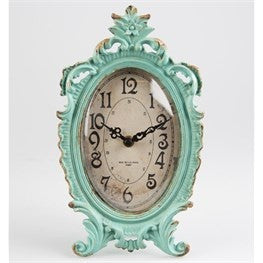 Boudoir old Romance Oval Clock - Doris and Jeannie - 1
