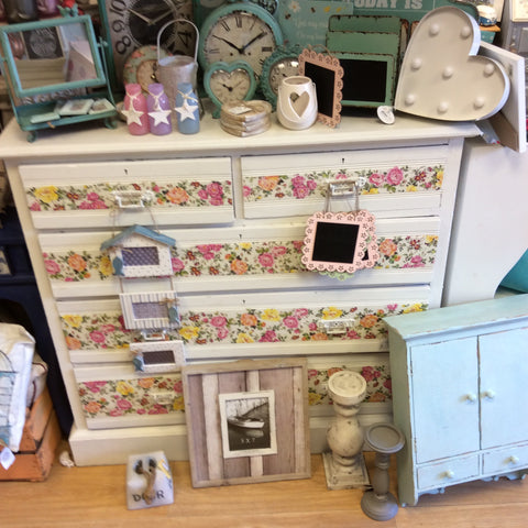 Decoupaged drawers - Doris and Jeannie