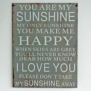 You are my sunshine sign - Doris and Jeannie