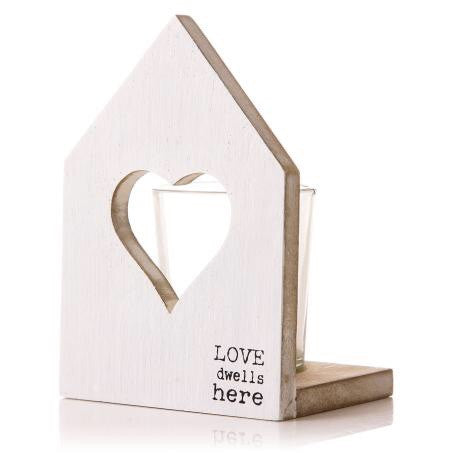 Zz Pya Heart Candle Holder White 13Cm - Doris and Jeannie