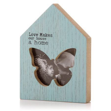Zz Pya House Butterfly Photo Frame 13Cm - Doris and Jeannie