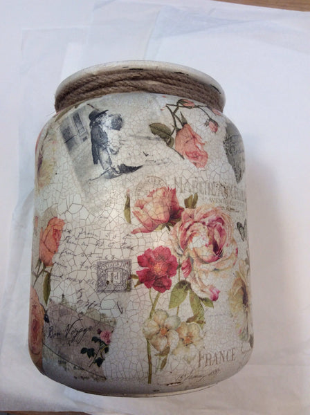 Large Personalised  Handmade Churn - Dusky Rose - Doris and Jeannie - 2