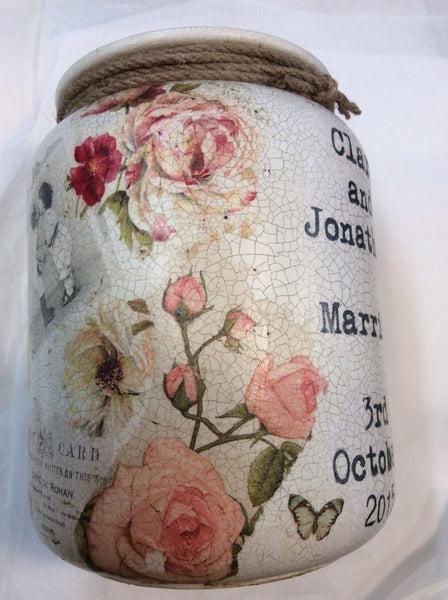 Large Personalised  Handmade Churn - Dusky Rose - Doris and Jeannie - 3