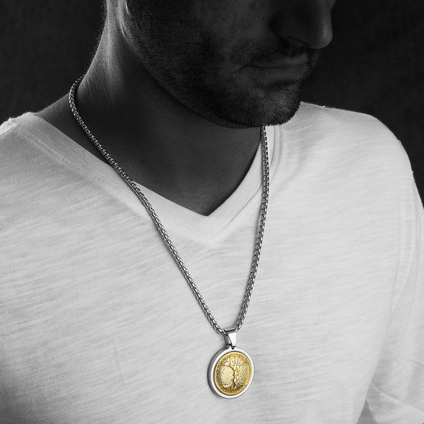Tree Of Life Pendant Necklace on Tarnish Resistant 18k Gold Plated Chain