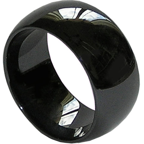 GESTALT® Black Ceramic Ring - 10mm width. Domed & Polished Design.