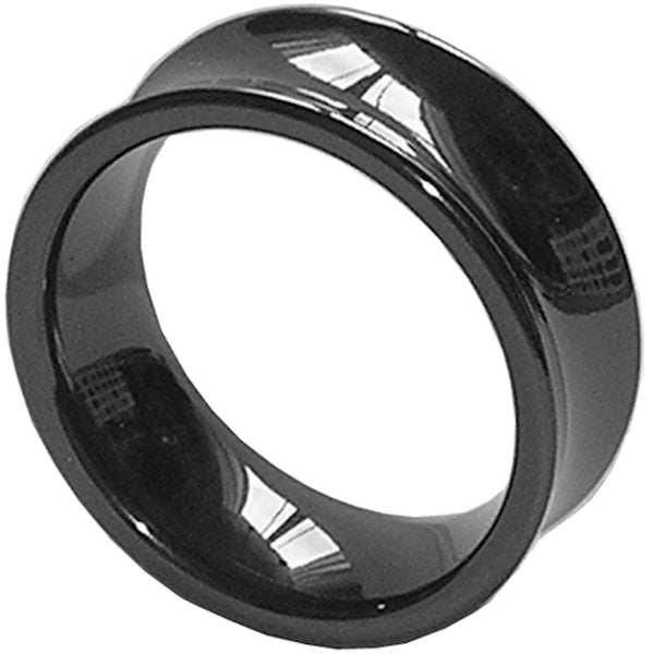 GESTALT® Black Ceramic Ring - 8mm width . Concave Design.