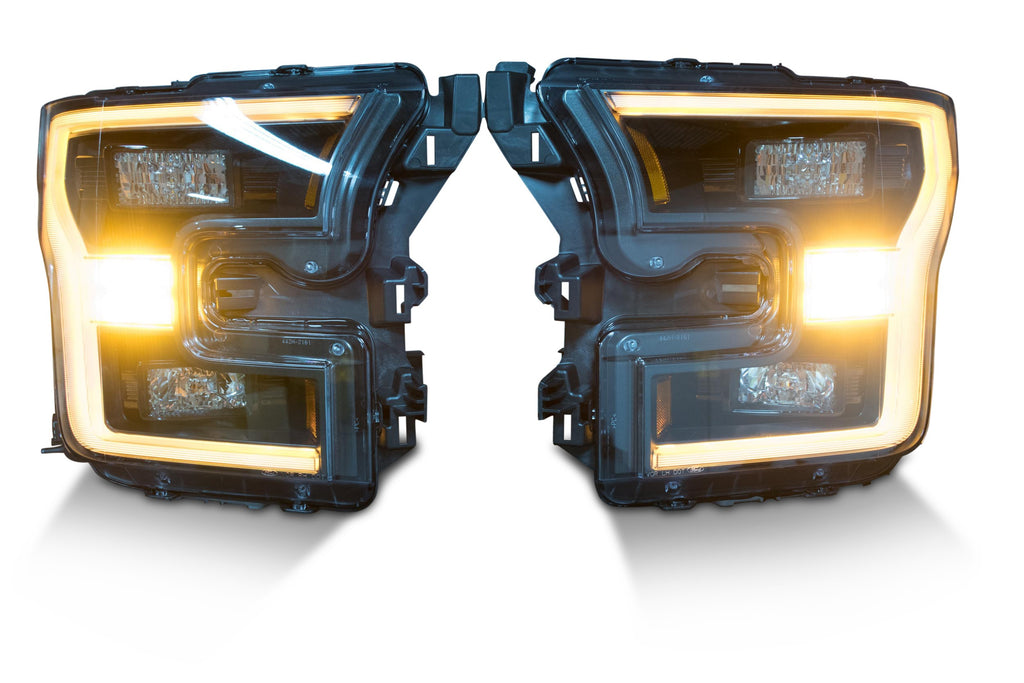 Pair: 2015-2017 Ford F150 OEM LED Headlights - American Retrofits