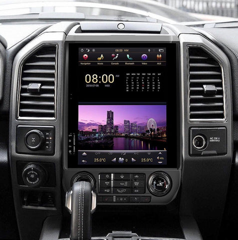 "Pre-Order 2015-2019 Ford F-150/250/350 12.1"" Android 7.1 Fast Boot Touchscreen Headunit - American Retrofits"