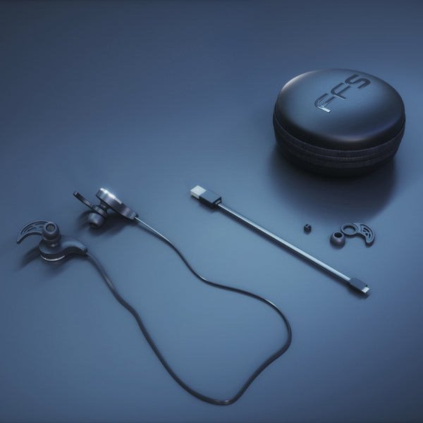 FFS Wireless Earbuds with Built-In Microphone, Water & Sweat Resistant