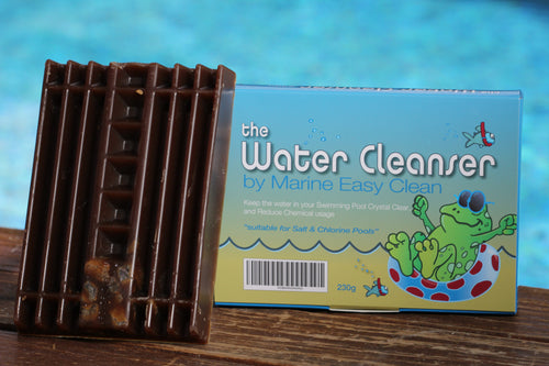 The Water Cleanser Pool block (230g) - for healthy, clear, and algae-free water - product and package