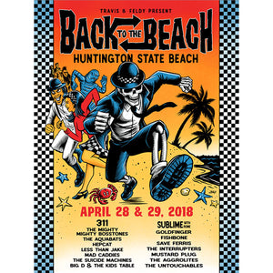 Back To The Beach 2018 Event Poster