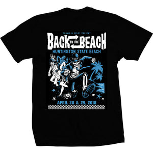 Back To The Beach 2018 Event Tee Black