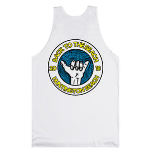 Back To The Beach Shaka Tank Top White