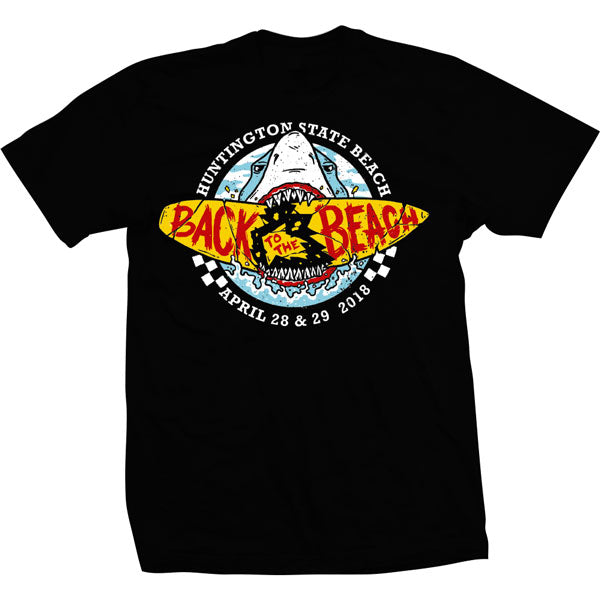 Back To The Beach Shark Tee Black