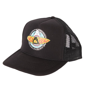 Back To The Beach Shark Trucker Hat Black