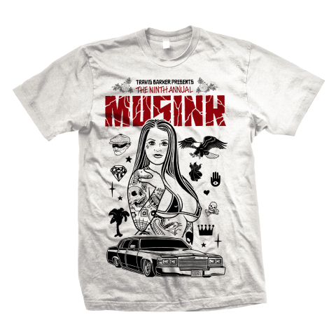Musink Tattoo Girl Tee White