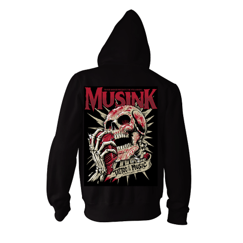 Musink Shout It Out Zip Hoodie Black