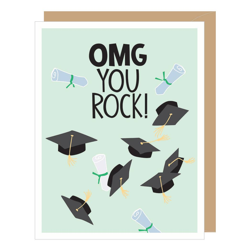 OMG You Rock Graduation Card