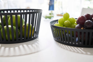 White & Black Steel Fruit Baskets