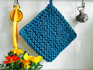 Pot holder: Blue