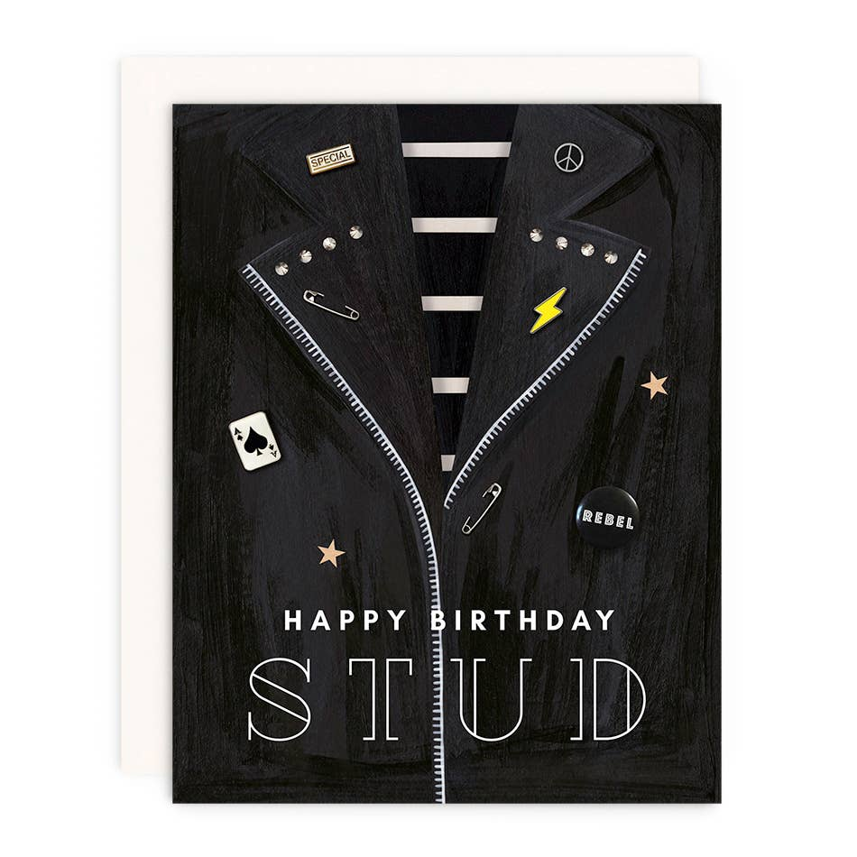 Card: Happy Birthday Stud Greeting