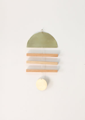 Vane Moon Hickory + Brass Wall Hanging