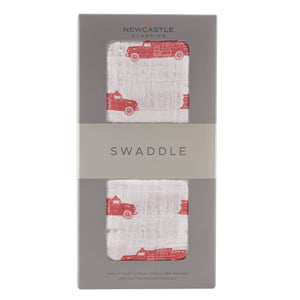 Big Red Fire Truck Swaddle