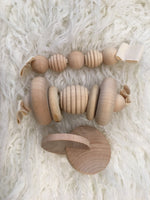 Wooden rattle/teether giftset