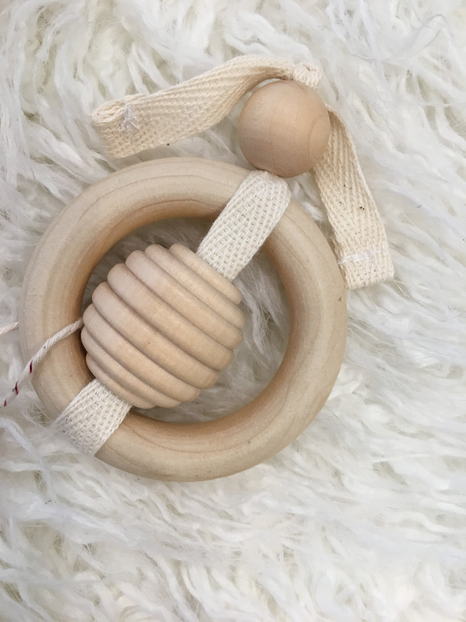 Wooden rattle/teether