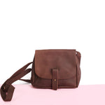 Nubuck Bucket Purse: Chocolate brown