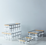 White Steel Storage Baskets