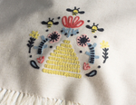Busy Bee Embroidered Dishtowel