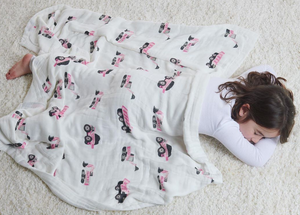 Punky Pink Tractor Swaddle