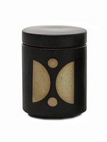 Lotti Lidded Candle / Planter in Palo Santo Suede