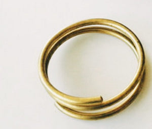 Double solid brass cuff: size medium