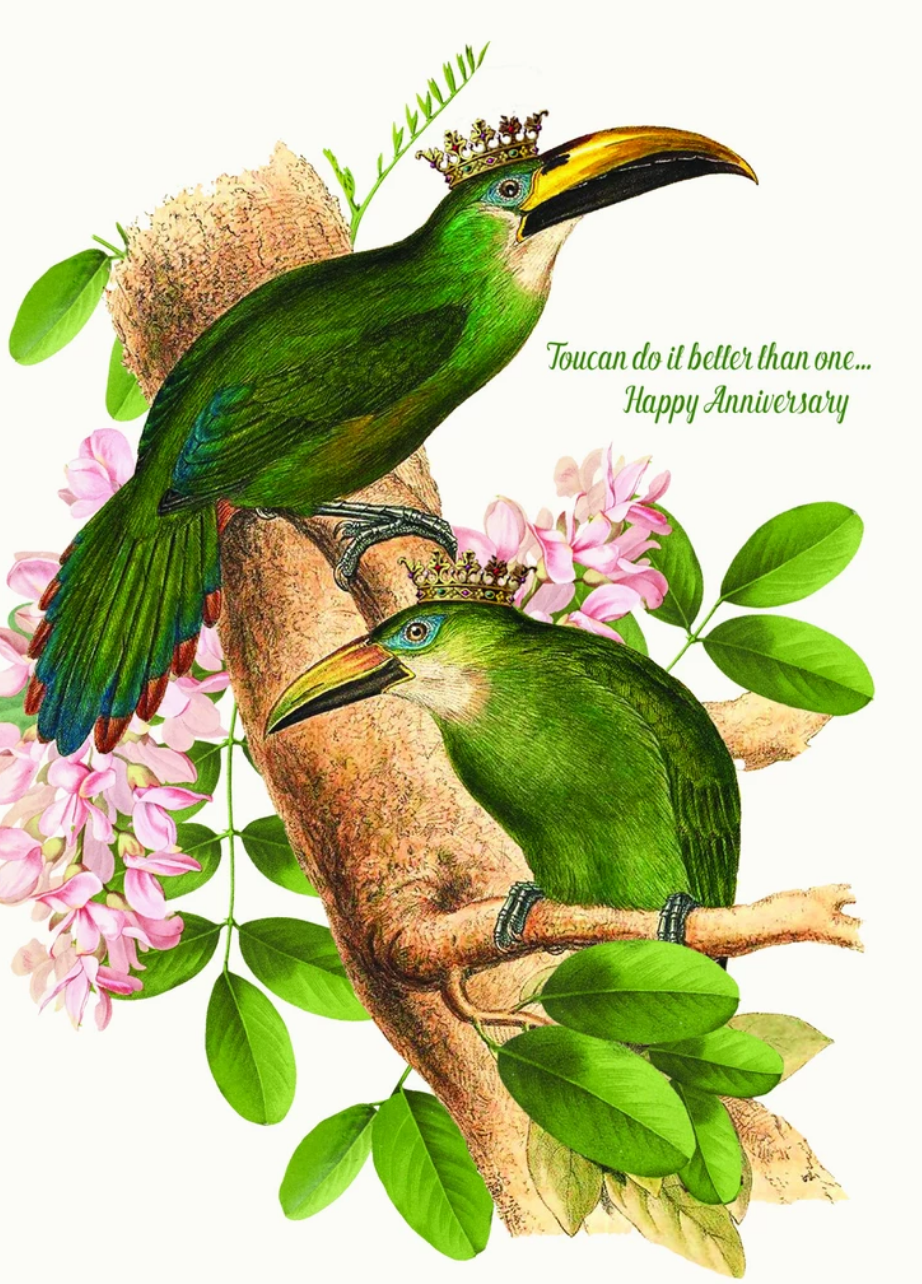 Card: Toucan Do It Better Than One. Happy Anniversary