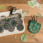 Green Flora & Fauna Coin Purse