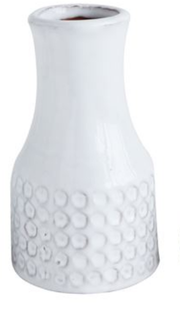 Willa White Textured Vase