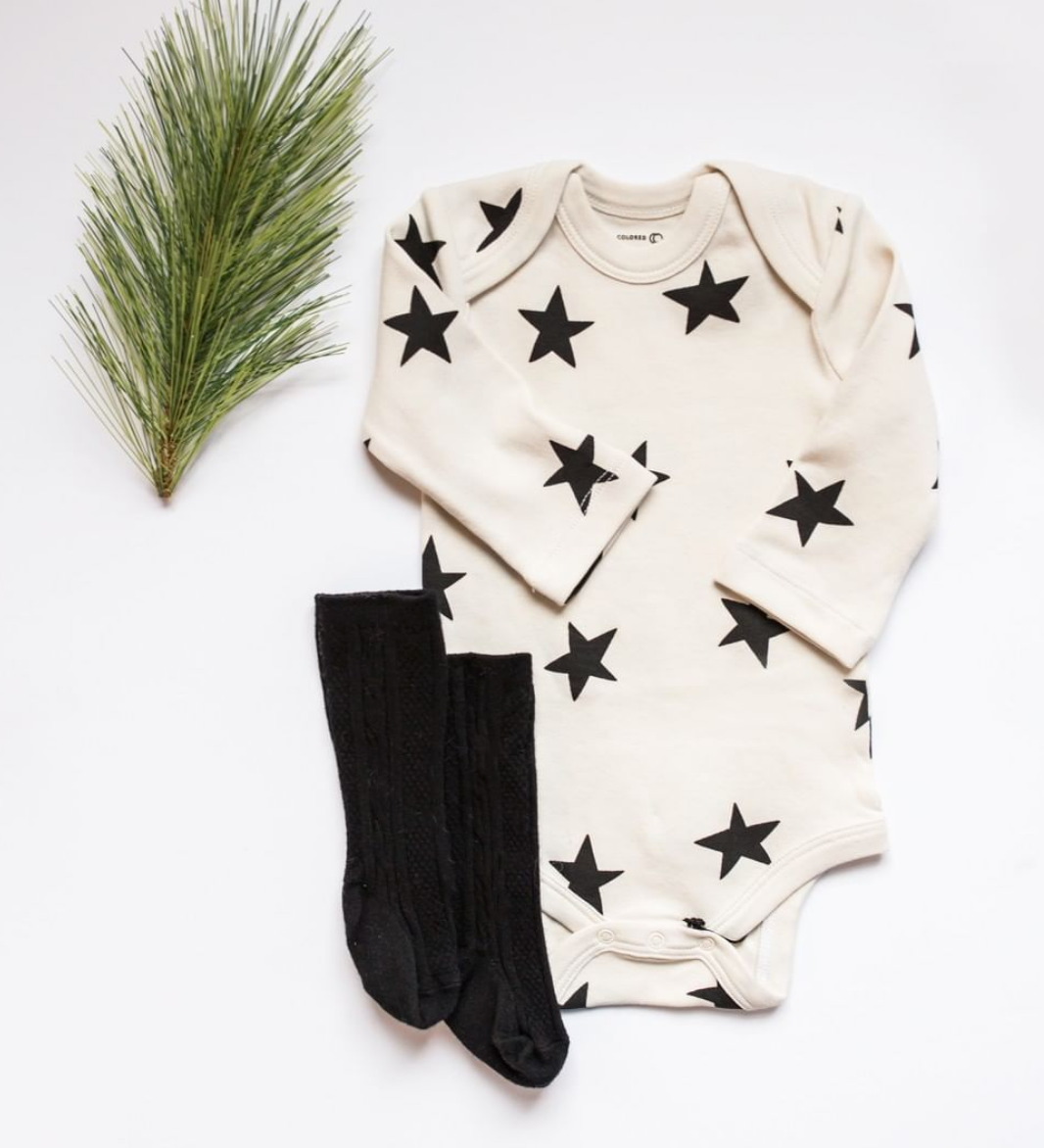 Long Sleeve Star Print One Piece