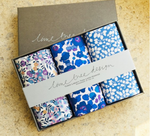 Floral Hankies / Pocket Square: Shades of Blue