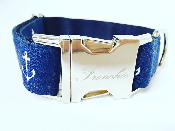 Dog collar: Nautical adjustable collar