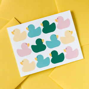 Rubber Duck Pattern Card
