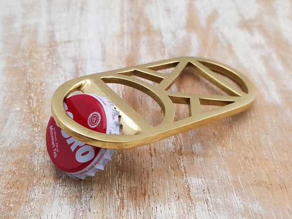Brass Bottle Opener: Round
